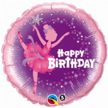 "Birthday Ballerina Foil Balloon (18"") 1pc"